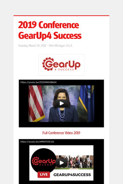 2019 Conference GearUp4 Success
