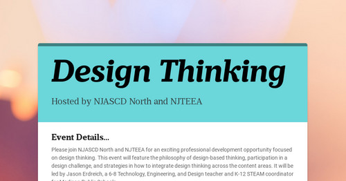 Design Thinking | Smore Newsletters for Education
