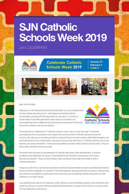 SJN Catholic Schools Week 2019