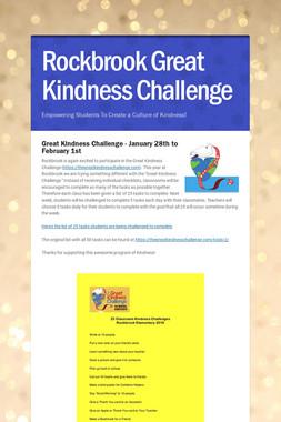 Rockbrook Great Kindness Challenge
