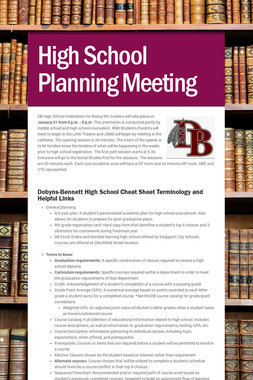 High School Planning Meeting