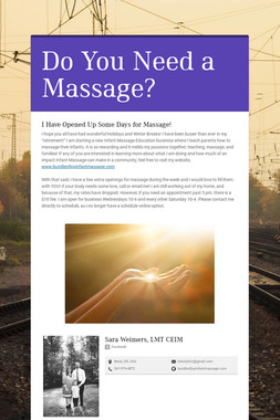 Do You Need a Massage?