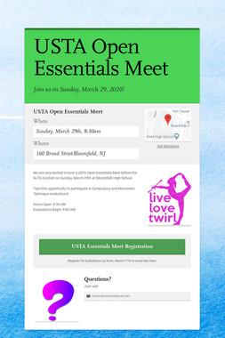 USTA Open Essentials Meet