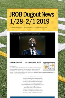 JROB Dugout News 1/28- 2/1 2019