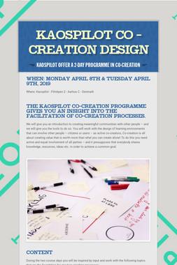 Kaospilot Co - creation Design