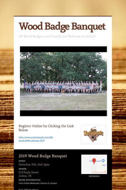 Wood Badge Banquet