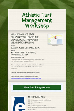 Athletic Turf Management Workshop