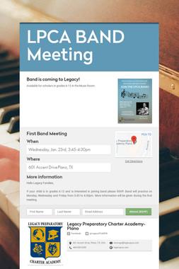 LPCA BAND Meeting