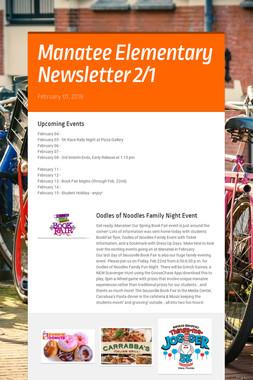 Manatee Elementary Newsletter   2/1