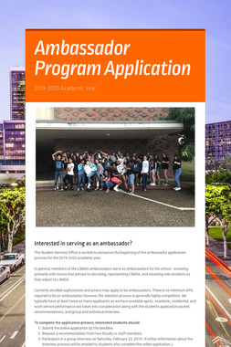 Ambassador Program Application
