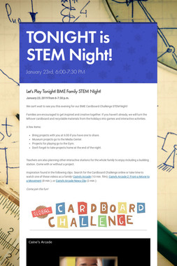 TONIGHT is STEM Night!