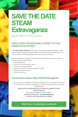 SAVE THE DATE  STEAM Extravaganza