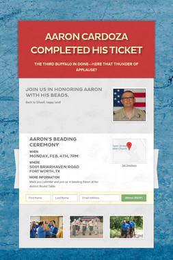 Aaron Cardoza Completed His Ticket