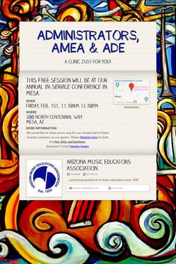 ADMINISTRATORS, AMEA & ADE