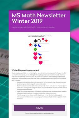 MS Math Newsletter Winter 2019