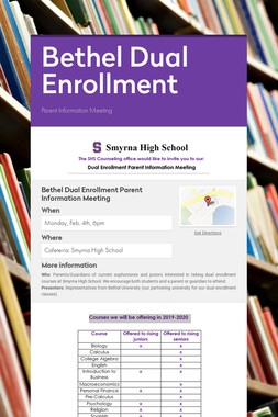Bethel Dual Enrollment