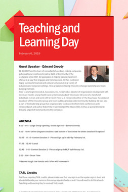 Teaching and Learning Day