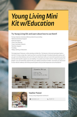 Young Living Mini Kit w/Education
