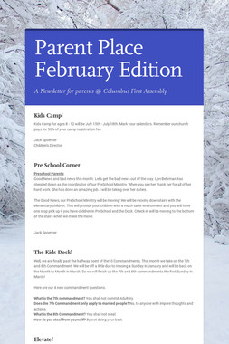 Parent Place February Edition