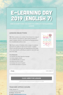 E-Learning Day 2019 (English 7)