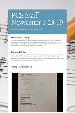 PCS Staff Newsletter 1-23-19