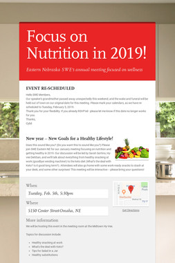 Focus on Nutrition in 2019!