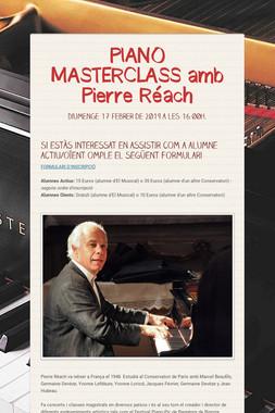 PIANO MASTERCLASS amb Pierre Réach