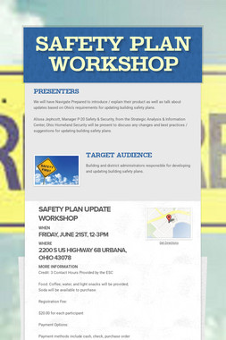 Safety Plan Workshop
