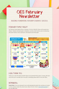 OES February Newsletter
