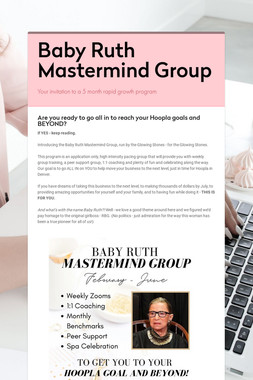 Baby Ruth Mastermind Group