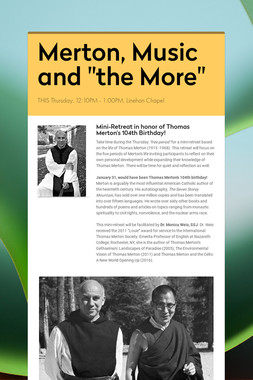"Merton, Music and ""the More"""
