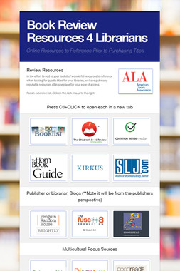 Book Review Resources 4 Librarians