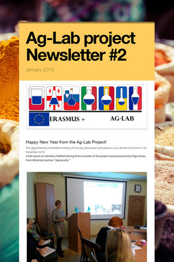 Ag-Lab project Newsletter #2