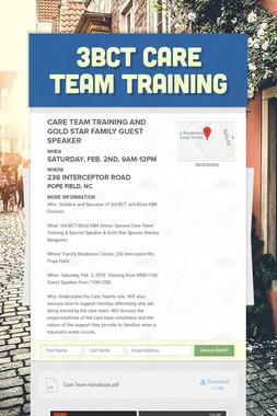3BCT Care Team Training