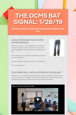 The DCMS Bat Signal: 1/28/19