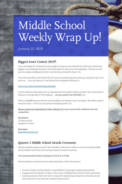 Middle School Weekly Wrap Up!