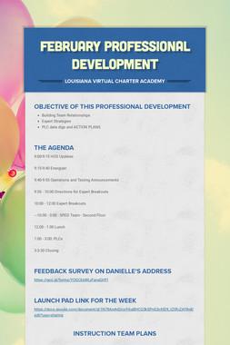 February Professional Development