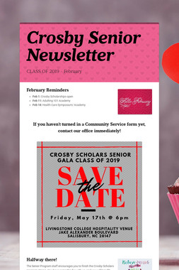 Crosby Senior Newsletter