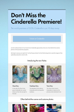 Don't Miss the Cinderella Premiere!