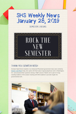 SHS Weekly News January 28, 2019