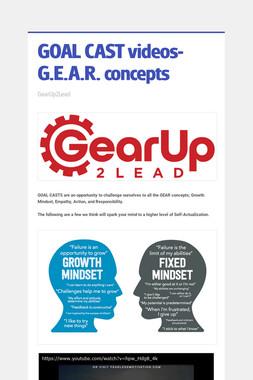 GOAL CAST videos- G.E.A.R. concepts