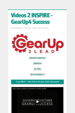 Videos 2 INSPIRE  - GearUp4 Success