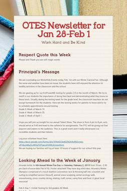 OTES Newsletter for Jan 28-Feb 1