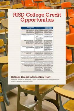 RISD College Credit Opportunities