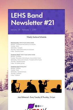 LEHS Band Newsletter #21
