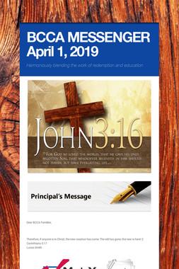 BCCA MESSENGER  April 1, 2019