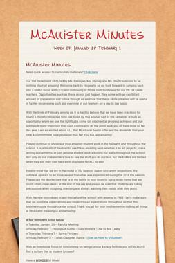 McAllister Minutes