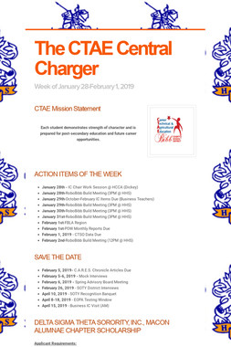 The CTAE Central Charger