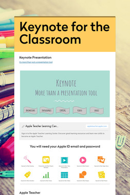 Keynote for the Classroom