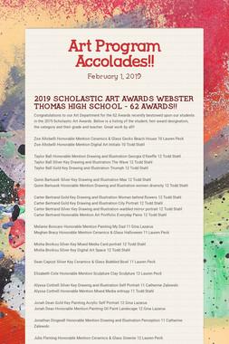 Art Program Accolades!!